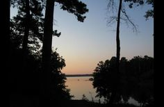 The sun rising out over the end of the lake house cove Big Sam, Some Pictures, Lodges, Sunrise, Vacation, House, Outdoor, Outdoors, Cabins