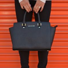 Michael Kors Selma Large Black Bag New with tag!! Such a great handbag!! Retail is $358  tax! Michael Kors Bags Satchels