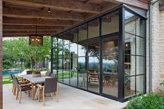 Extension Veranda, House Extension Design, Exterior Design, Interior And Exterior, Modern Farmhouse Exterior, Dream House Exterior, House Windows, House Extensions, Stone Houses