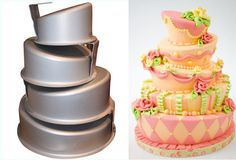 Topsy-turvy cake pans.  Wow, I didn't know they made these...I need, ok, I want, these. :)