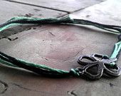 Shamrock Bracelet Friendship Bracelet Antiqued Bronze Shamrock Charm Bracelet Jewelry