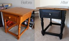 Black End Table Before & After @ thegifforddesign.com