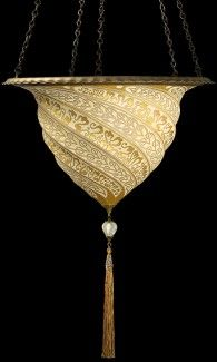 Image 1- Glass Samarkanda Fortuny $ 1,094.25 .  From Fortuny in Venice, Italy.  GORGEOUS !!