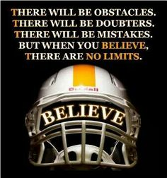 Believe in team and the Orange & White Tennessee Volunteers Football, Football Banquet, Football Spirit, Football Signs, Tennessee Football, Youth Football, School Football, Football Helmets, Football Mom Quotes