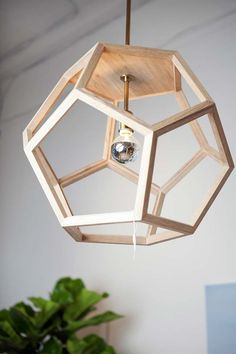 oak wood pendant themill ca hexagon wood pendant light fixture - All For Decoration