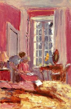 Madame Hessel in Her Room at Clayes / Edouard Vuillard - circa 1930-1935