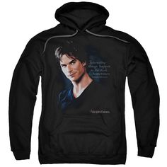 Vampire Diaries/Sometimes Adult Pull-Over Hoodie in