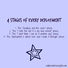4 Stages of Every Deployment Memes For Military Spouses About Military Life - Soldier's Wife, Crazy Life Military Girlfriend Quotes, Marines Girlfriend, Military Couples, Military Quotes, Military Mom, Army Mom, Military Deployment, Army Wife Quotes, Deployed Boyfriend