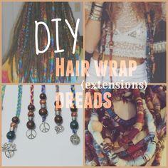 ♡ DIY Hair Wrap Dread (Extensions) ♡