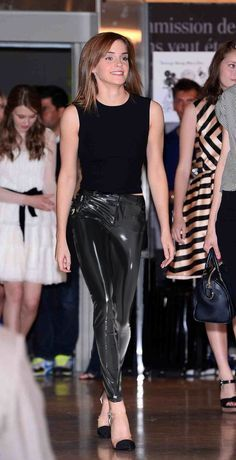 Emma Watson in PVC at Paris Student Fashion Show by Andylatex on DeviantArt