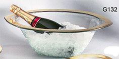 Annieglass Roman Antique Gold Wine Cooler - Really is Fabulous!  ShopMFT.com