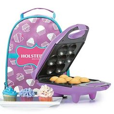 7. Holstein Housewares Mini Cupcake Maker (HM-09101P-BU)