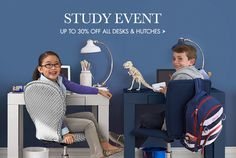 Save on all desks and hutches at our Study Event!!