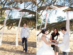 outdoor wedding ceremony - ribbons by A Charming Affair