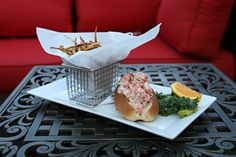 Lobster Roll & Fries- KaseysRVC.com #Kaseys #Kitchen #RVC #LongIsland #delicious #menu #options #comfort #food #Rooftop32 #Lobster #Roll #Fries