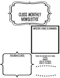 I teach 3 year olds in Preschool & couldn't find a cute monthly newsletter I liked that wasn't cheesy, so I made this layout. Simple & cute, easy to fill in the text- I used the Pupcat font.