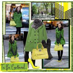 Gossip Girl - green & yellow, created by bhamgal11