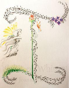 Custom Monogram Personalized Fine Art 11 X 14 by ABitofWhimsyArt, $98.00