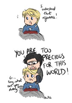 Steve is Tony's precious little flower. Supernatural references yay! :D he's also my precious little flower!!