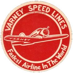 luggage label: Varney Speed Lines, United Air Lines