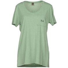 Jijil T-shirt (2.020 RUB) ❤ liked on Polyvore featuring tops, t-shirts, light green, light green t shirt, jersey tee, short sleeve tops, v neck t shirts and green v neck t shirt
