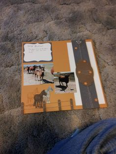 On the Farm Scrapbook page