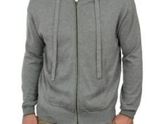 Mens Cashmere and Cotton Zip Thru Hoodie Flannel Grey Was £35.00   Now £19.00 http://tidd.ly/e68f79b4