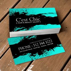 Fully customizable hair salon business card templates created by ...