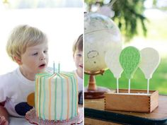 Vintage Balloon Themed 2nd Birthday Party