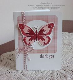 When coming up with baby card thank you's I had a few that didn't quite work out, but I ended up changing the onesie to butterflies a...