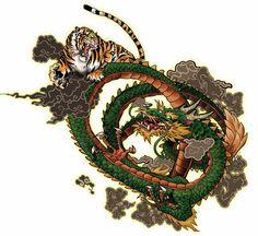 Dragon vs. Tiger by TheTrueFoldedSteel on DeviantArt Dragon Tiger Tattoo, Tiger Dragon, Poke Tattoo, Tattoo Art, Ninja Art, Chinese Style, Custom Logos, Japanese, Deviantart