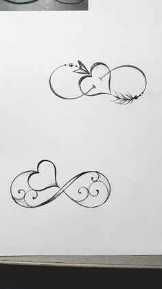 Unendliches Herz Tattoo - Unendliches Herz Tattoo - to make temporary tattoo crafts ink tattoo tattoo diy tattoo stickers Mini Tattoos, Love Tattoos, Beautiful Tattoos, Body Art Tattoos, Small Tattoos, Tatoos, Couple Tattoos, Finger Tattoos, Form Tattoo