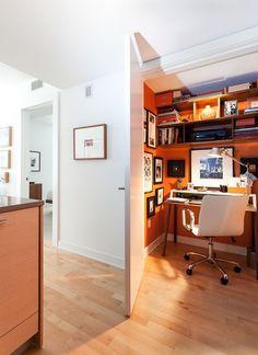 Smart hidden office is an absolute space-saver