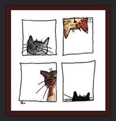 "Search results for ""jill latest cats"" - Katzen Bilder - Watercolor Cards, Watercolor Paintings, Cat Cards, Cat Drawing, Art Plastique, Crazy Cats, Doodle Art, Cat Doodle, Art For Kids"