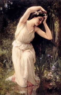 Lenoir, Charles Amable (b,1860)- Nymph In Forest