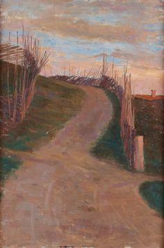 Prins Eugen (Swedish, 1865-1947), Landscape with roundpole fence, 1889. Oil on canvas, 54 x 36.5 cm.