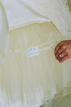 Kristin Newman Designs    dress label sewn into crinoline
