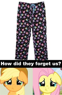 My Little Pony - Rainbow Dash - Rarity - Twilight Sparkle - MLP Pajama Pants - Forgetting Applejack and Fluttershy. I hate this! Fluttershy and applejack are awesome and important ponies!!