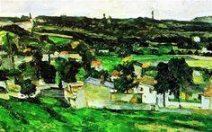 View of Auvers-sur-Oise Paul Cezanne - Paul Cézanne — Wikipédia Paul Cezanne, Cezanne Art, Mary Cassatt, Manet, Caravaggio, Pierre Auguste Renoir, Claude Monet, Boston Museums, Vincent Van Gogh