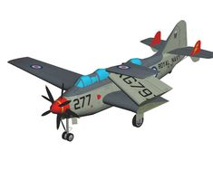 Fairey Gannet ECM.6 Carrier-Borne Aircraft Paper Model Free Template Download…