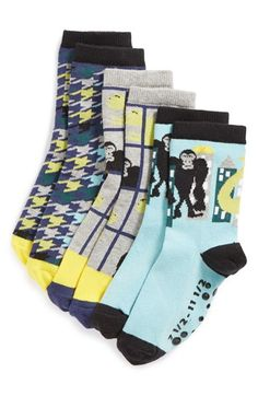 Tucker + Tate 'Play Date' Crew Socks (Toddler & Little Kid) Tucker Tate, Crew Socks, My Design, Kids Shop, Nordstrom, Play, Destruction, Shopping, Clothes