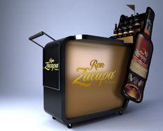 Ron Zacapa by ricardo ayala Pos Display, Bottle Display, Wine Display, Display Design, Booth Design, Pos Design, Stand Design, Retail Design, Promotional Stands