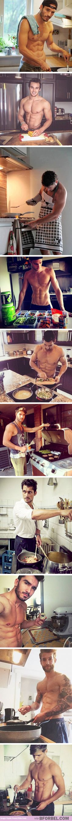 Dishy dudes cooking? Yes please!