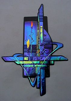 Stained Glass Ornaments, Fused Glass Art, Glass Wall Art, Window Glass, Dichroic Glass, Glass Vase, Graffiti, Colorful Paintings, Wall Sculptures
