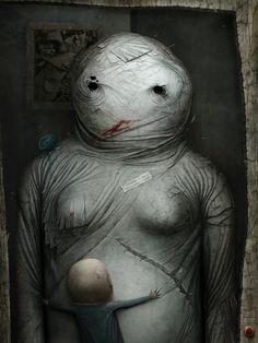 Horror Illustrations – The Dark Side of Digital Art « Cruzine,anton simenov Art And Illustration, Dark Art Illustrations, Anton, Dark Fantasy, Fantasy Art, Design Spartan, Art Noir, Horror Art, Creepy Horror