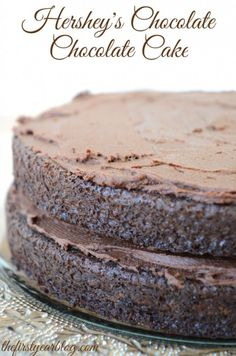 Original Hershey Coco Deep Dark Chocolate Cake This is the one my Mom use to make off the Hershey Coco can.   Yum This is the recipe I have been looking for to Pin... It says it is Hershey's Easy Does It Recipe.. Mixes in 5 mins...