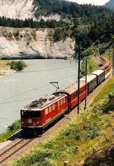 """Rhätische Bahn with """"Glacier-Express"""" (St. Moritz - Zermatt)"""