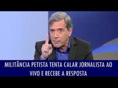Militância petista tenta calar jornalista ao vivo e recebe resposta