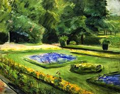 The Athenaeum - The Terrace in the Wannsee Garden toward the Northeast (1923) (Max Liebermann - )