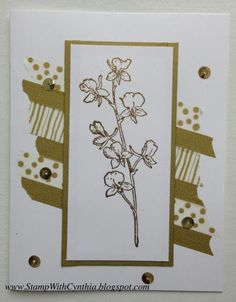 Luscious Gold Happy Watercolor - White by Cynthia<>< - Cards and Paper Crafts at Splitcoaststampers